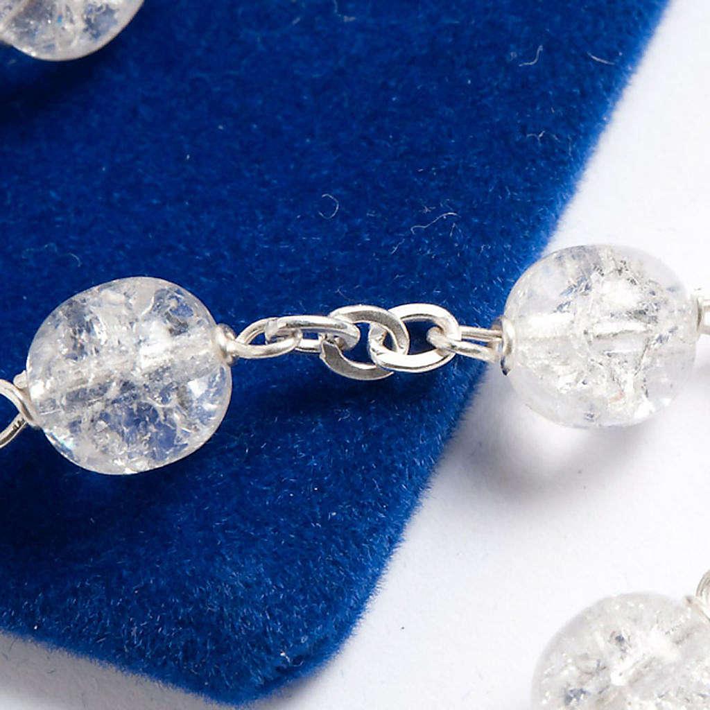 Rosario argento 925 cristallo crepato 4