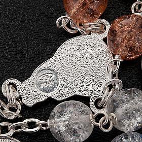 Rosario argento 925 cristallo crepato s3