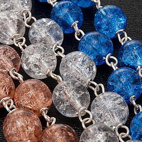 Rosario argento 925 cristallo crepato s4