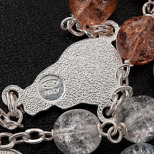 Rosario argento 925 cristallo crepato 3