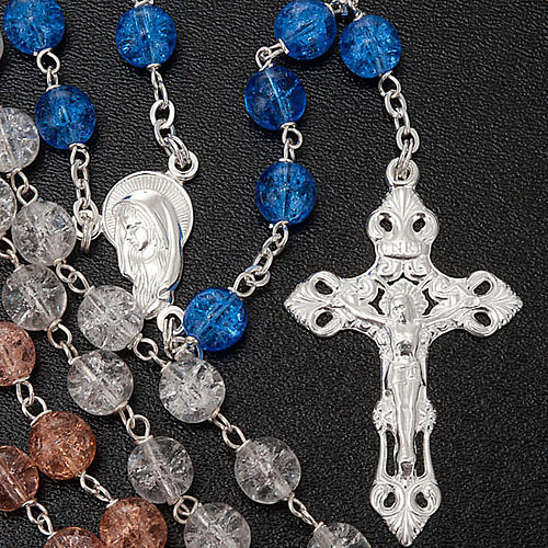 Silver 925 rosary and cracked crystal 2