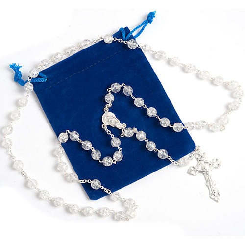 Silver 925 rosary and cracked crystal 5
