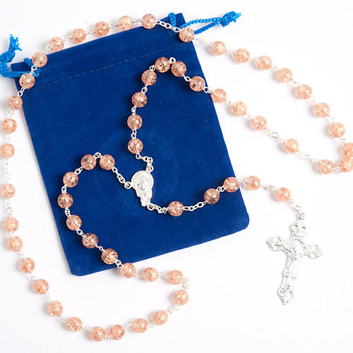 Silver 925 rosary and cracked crystal 7