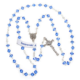 Silver 925 rosary and Swarovski 5mm beads s8