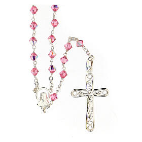 Silver 925 rosary and Swarovski 5mm beads s1