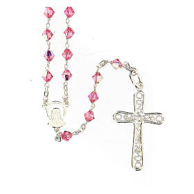 Silver 925 rosary and Swarovski 5mm beads s2