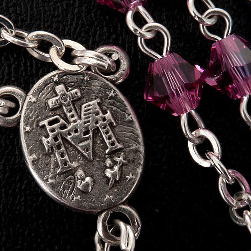 Silver 925 rosary and Swarovski 5mm beads 3