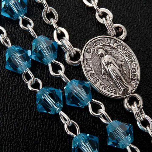 Silver 925 rosary and Swarovski 5mm beads 7