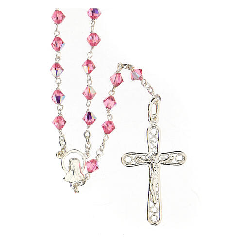 Silver 925 rosary and Swarovski 5mm beads 1