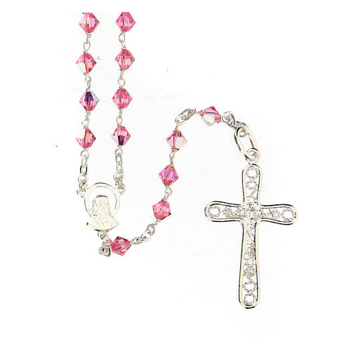 Silver 925 rosary and Swarovski 5mm beads 2