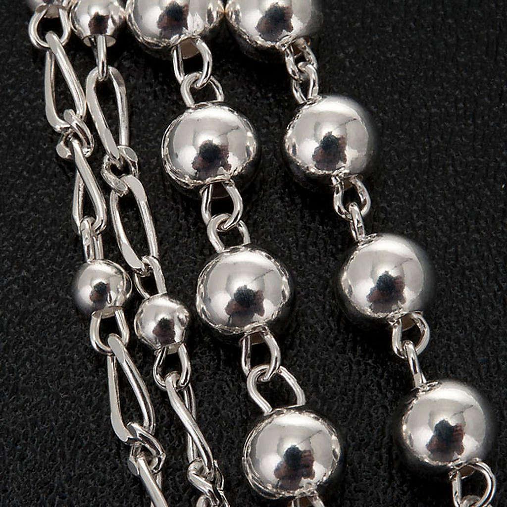 Rosario argento 925 grano 6 e 3 mm 4