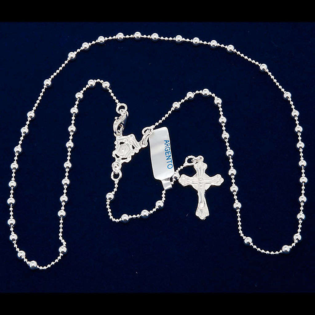 Necklace rosary, 800 silver, 3 mm beads 4