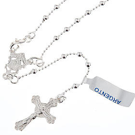 Necklace rosary, 800 silver, 3 mm beads s1