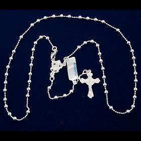Necklace rosary, 800 silver, 3 mm beads s5