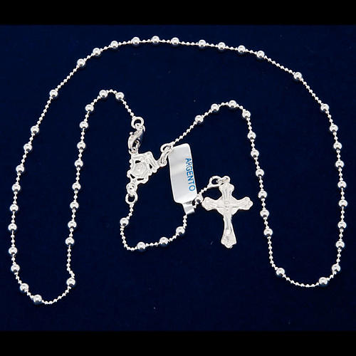 Necklace rosary, 800 silver, 3 mm beads 5