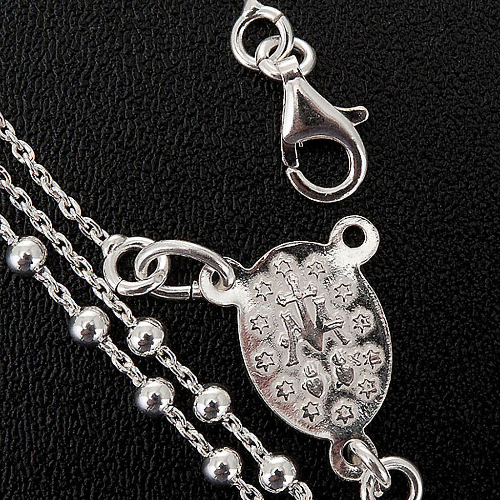 Necklace rosary, 925 silver, 2 mm beads 4