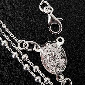 Collar rosario plata 925 cuentas 2 mm s2