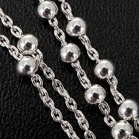 Collar rosario plata 925 cuentas 2 mm s3