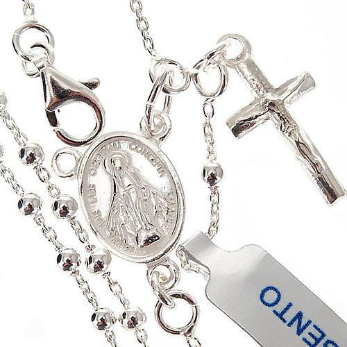 Collar rosario plata 925 cuentas 2 mm 1