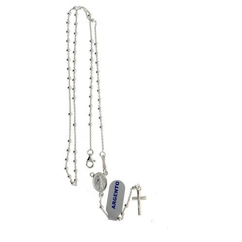 Collar rosario plata 925 cuentas 2 mm 4