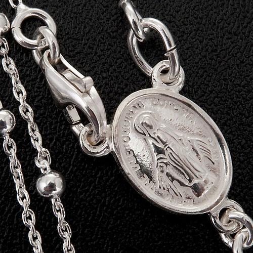 Colar terço prata 925 contas 2 mm 4