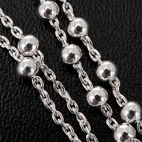 Necklace rosary, 925 silver, 2 mm beads s3