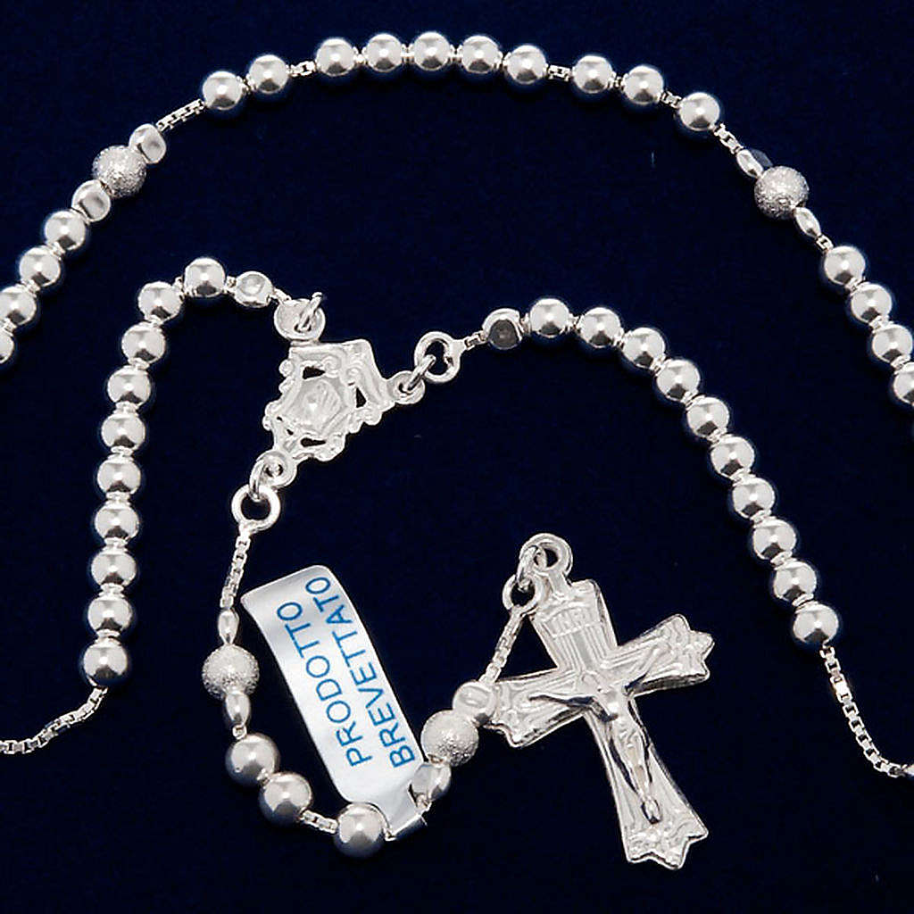 Rosary, 925 silver, sliding beads 4