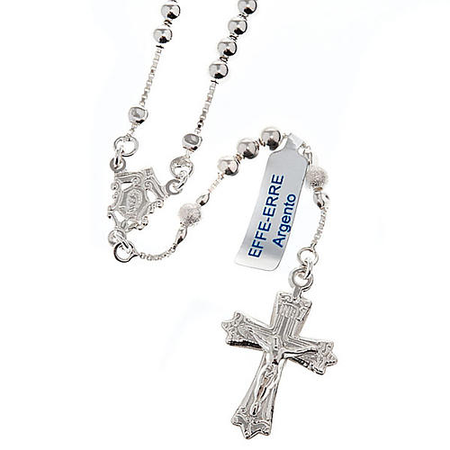 Rosary, 925 silver, sliding beads 1