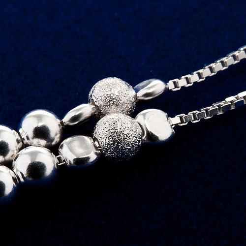 Rosary, 925 silver, sliding beads 2