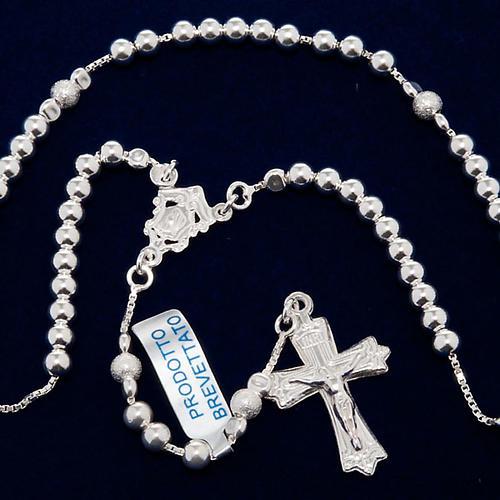 Rosary, 925 silver, sliding beads 5