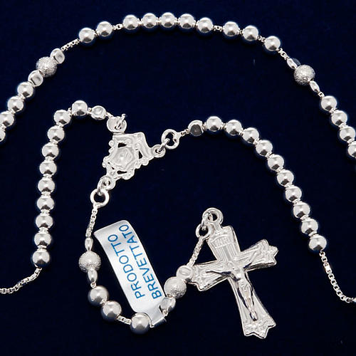 Rosary, 925 silver, sliding beads 5