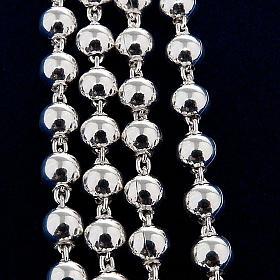 Collar rosario plata 925 cuentas 4 mm s2
