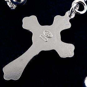 Collar rosario plata 925 cuentas 4 mm s3