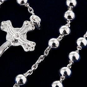 Collar rosario plata 925 cuentas 4 mm s4