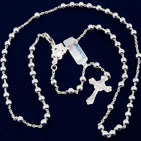 Collar rosario plata 925 cuentas 4 mm s5