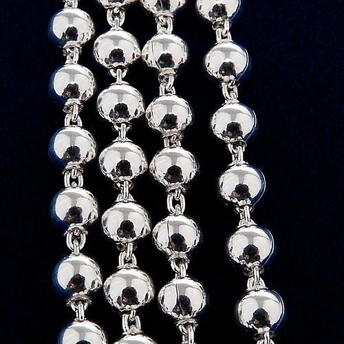 Collar rosario plata 925 cuentas 4 mm 2