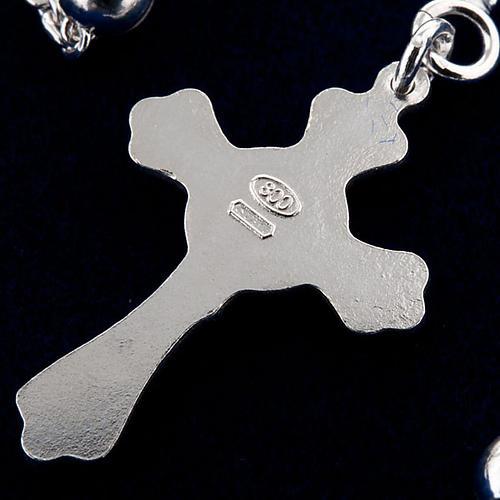 Collar rosario plata 925 cuentas 4 mm 3