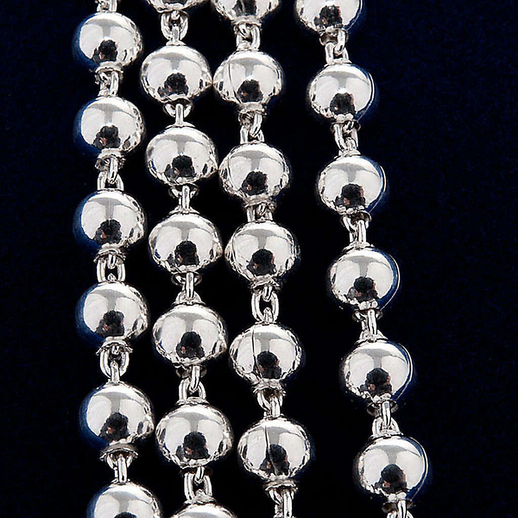 Terço colar prata 925 contas 4 mm 4