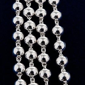 Necklace rosary, 925 silver, 4 mm beads s2