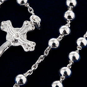 Necklace rosary, 925 silver, 4 mm beads s4