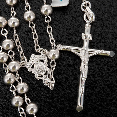 Necklace rosary, 925 silver, 5 mm 3
