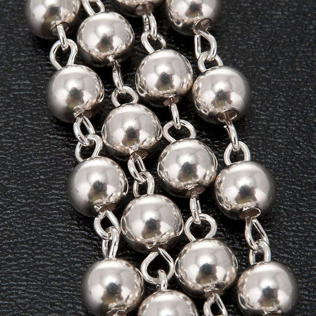 Necklace rosary, 925 silver, 5 mm 4