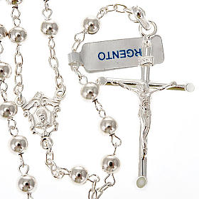 Necklace rosary, 925 silver, 5 mm s1
