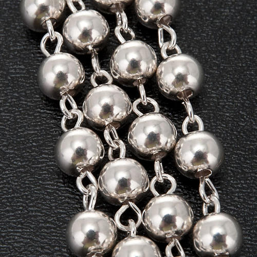 Necklace rosary, 925 silver, 5 mm 2