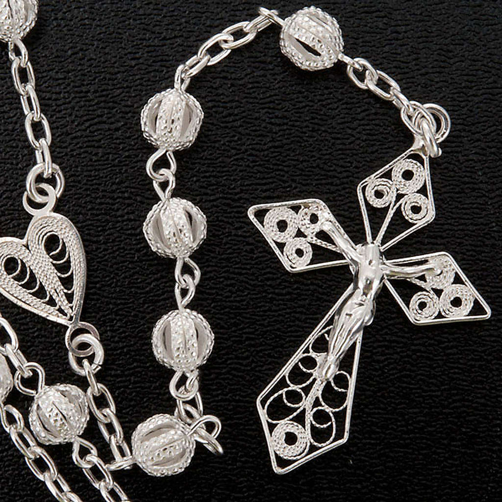 Rosary in silver 800 filigree 4