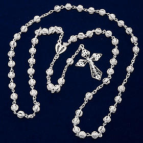 Rosary in silver 800 filigree s6