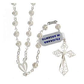 Rosary in silver 800 filigree s2