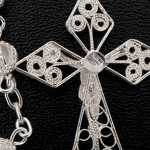 Rosary in silver 800 filigree 2