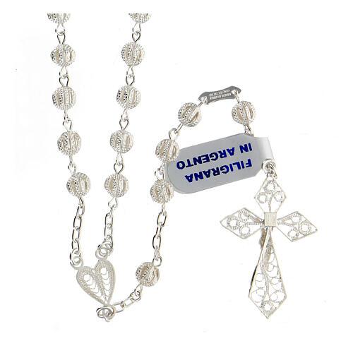 Rosary in silver 800 filigree 2