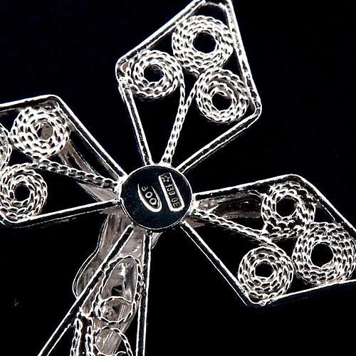 Różaniec filigran srebro 800 3